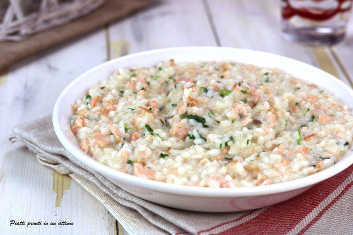 risotto cremoso al salmone