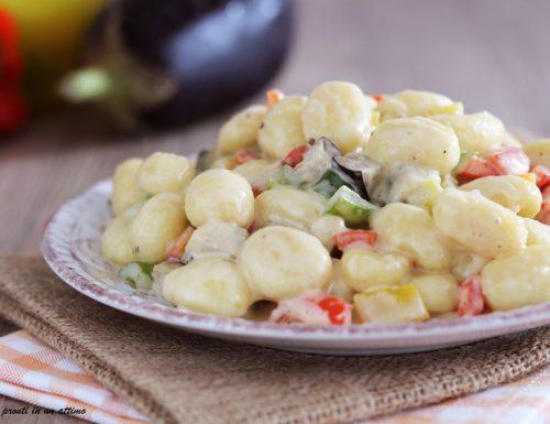 Gnocchi con melanzane e peperoni