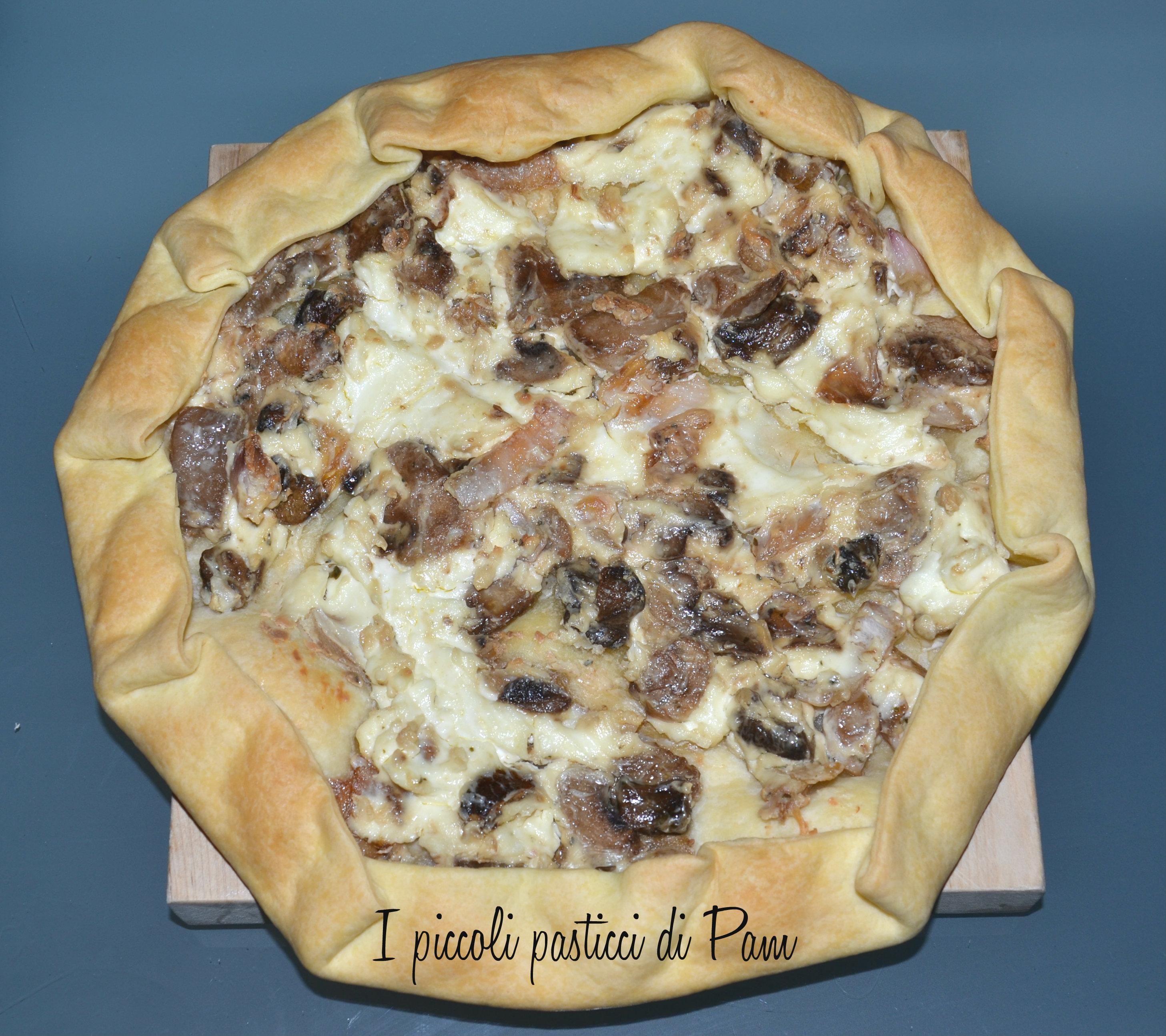 Torta salata con philadelphia e funghi ricetta salata I piccoli pasticci di Pam
