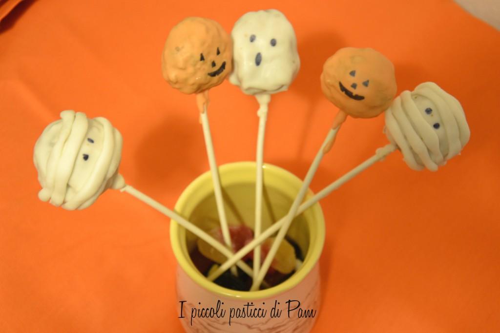 Cake pops mostruosi per Halloween - ricetta halloween - I piccoli pasticci di Pam