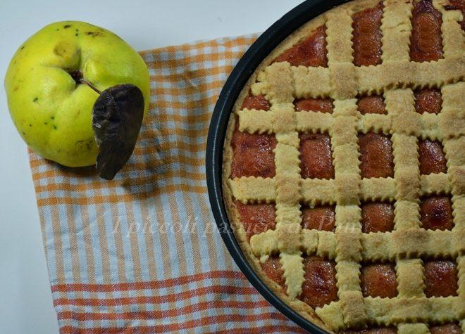 Crostata con marmellata di mele cotogne, ricetta dolce