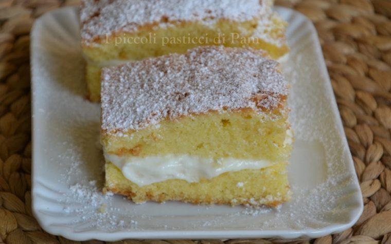 Torta paradiso ripiena di crema al latte