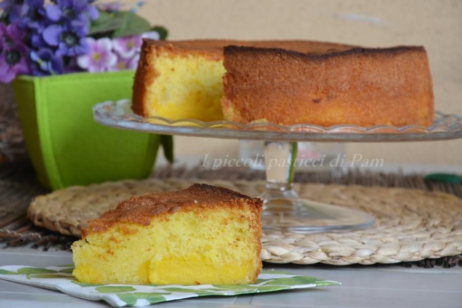 torta nua con crema pasticcera al limone