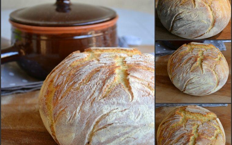 Pane di semola cotto in pentola