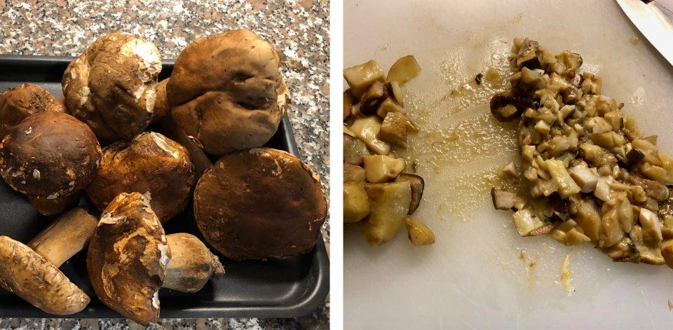 Risotto con funghi porcini e zafferano