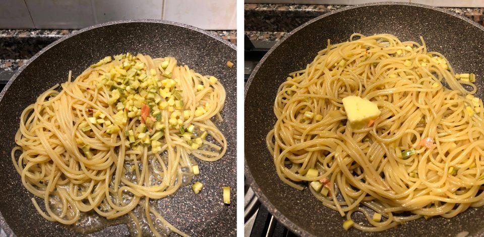 Pasta con salmone affumicato e zucchine 4