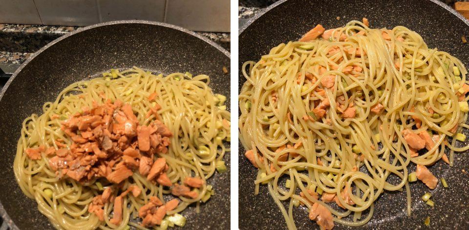 Pasta con salmone affumicato e zucchine 6