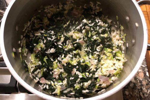 Risotto con cavolo nero e zucchine