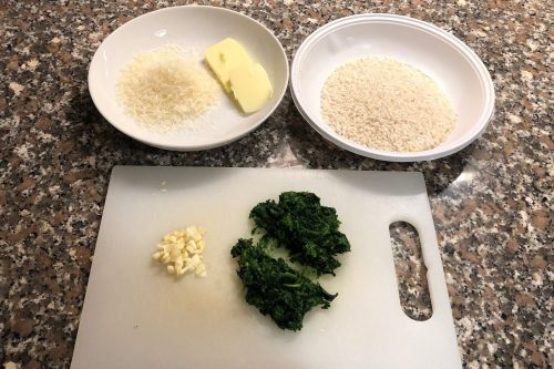 Risotto con gli spinaci: gli ingredienti