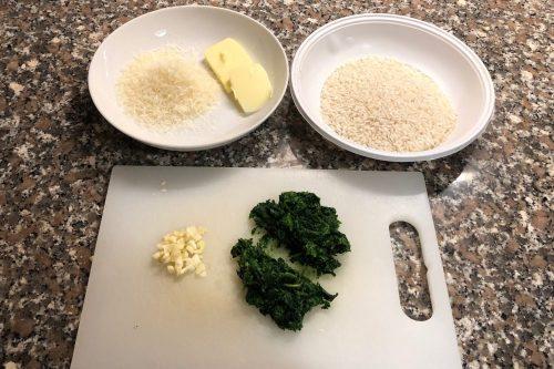 Risotto con gli spinaci: gli ingredienti