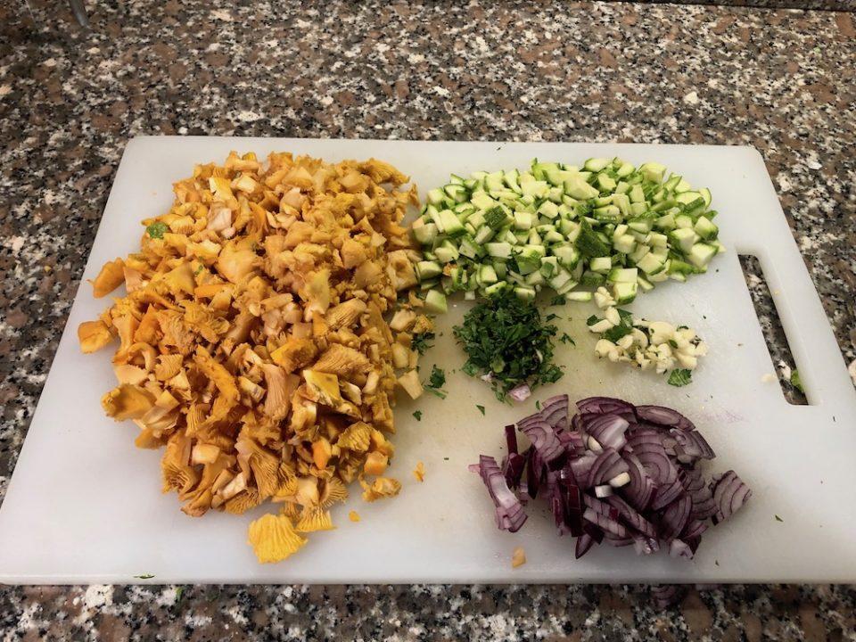 Risotto gallinacci e zucchine