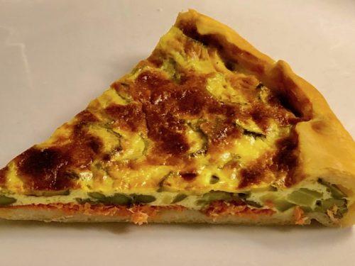 TORTA DI ASPARAGI, SALMONE E ZUCCHINE