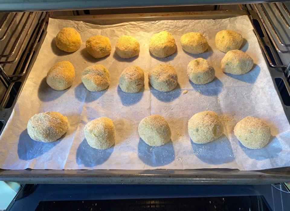 Polpette di cavolfiore e gorgonzola