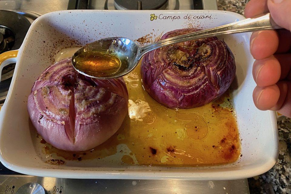 Cipolle al forno alla contadina