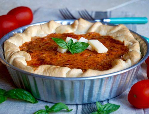 Torta Salata con Pomodori, Parmigiano e Acciughe