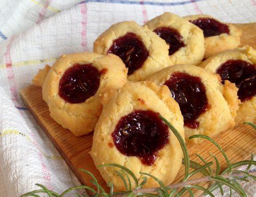 Biscotti al Parmigiano e Mirtilli Rossi