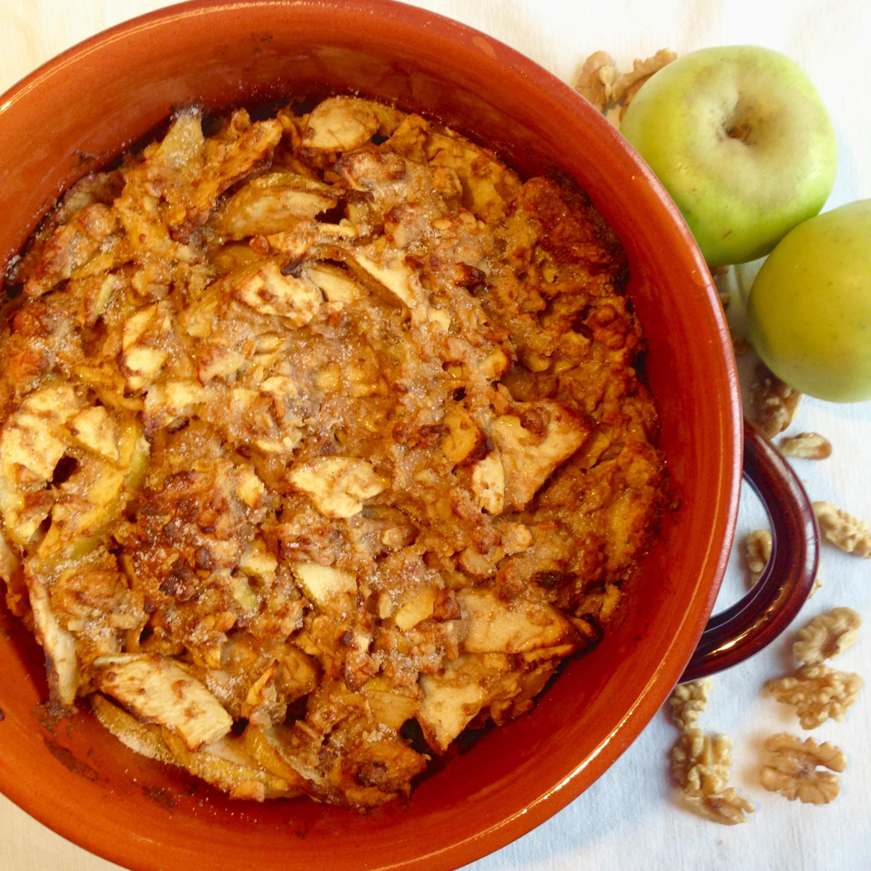 Pudding di Panettone, Mele e Noci