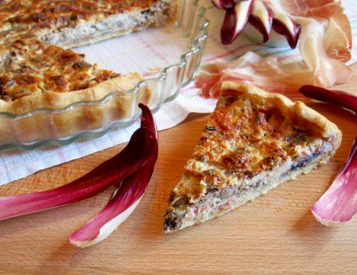 Torta Salata con Speck, Radicchio e Taleggio