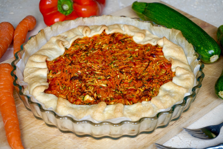 Torta Salata Zucchine, Carote e Peperoni