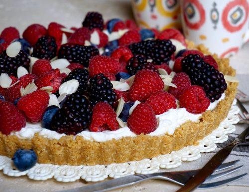 Crostata al Mascarpone e Frutti di Bosco, Senza Cottura