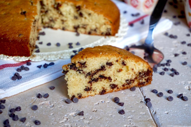 Torta 5 Minuti con Gocce di Cioccolato