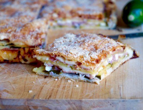 Torta Salata con Prosciutto e Zucchine
