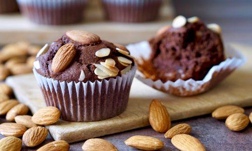 Muffin al Cioccolato e Mandorle