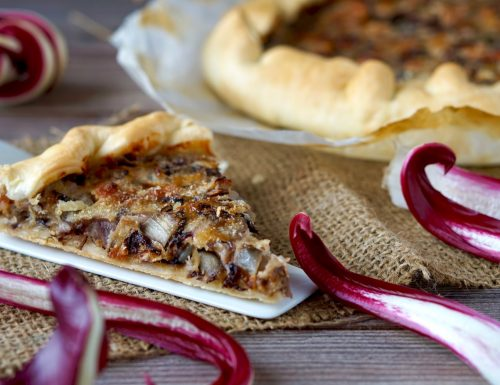 Torta Salata con Radicchio e Pancetta