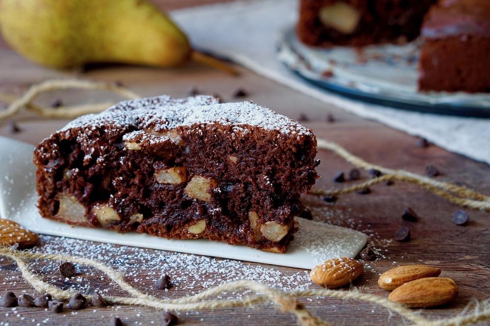 Torta al Cioccolato, Pere e Mandorle