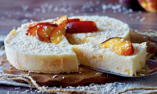 Torta Cocco e Pesche Senza Cottura