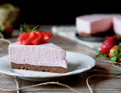 Cheesecake alle Fragole Senza Forno