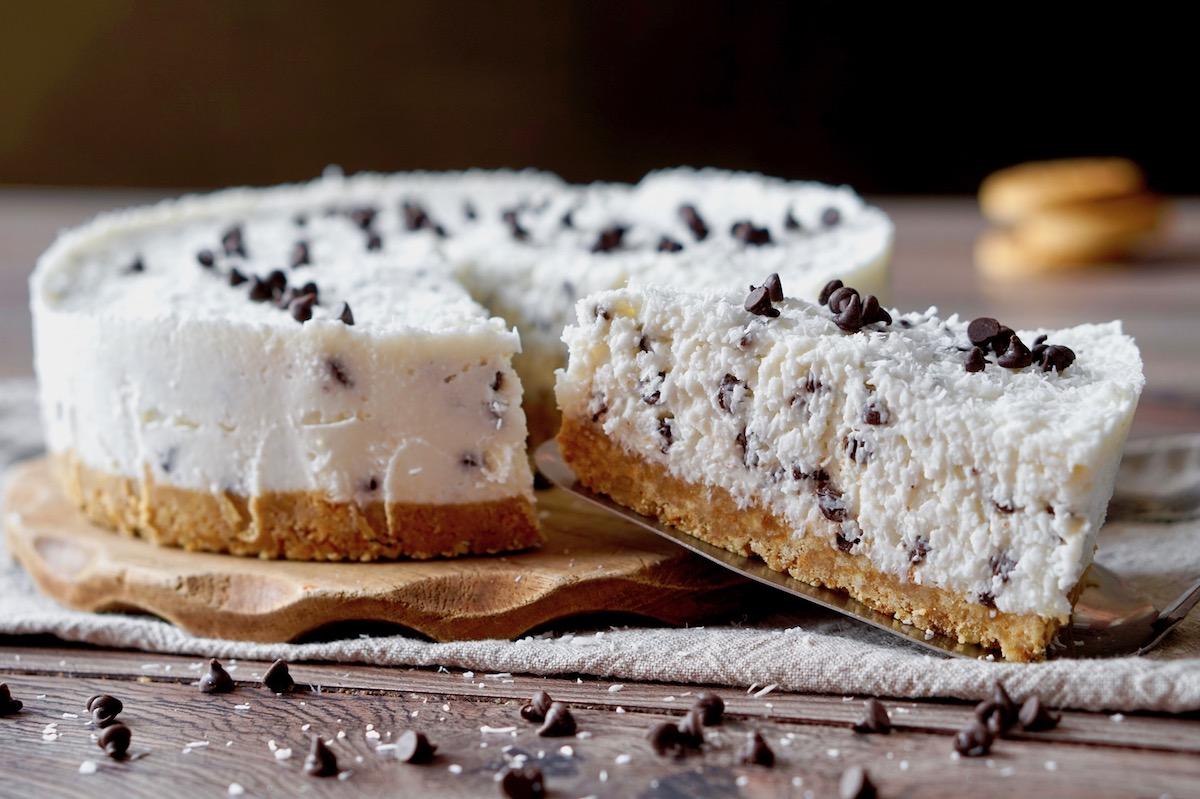 Torta Fredda allo Yogurt, Cioccolato e Cocco
