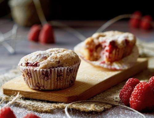 Muffin ai Lamponi e Limone