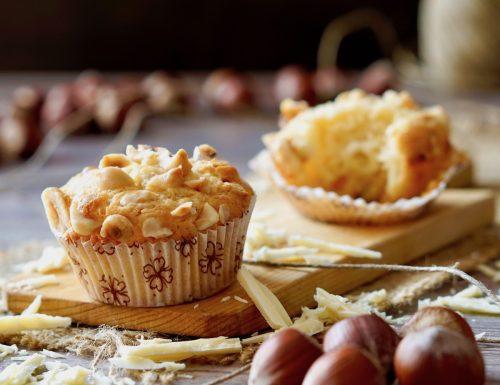 Muffin al Cioccolato Bianco e Nocciole