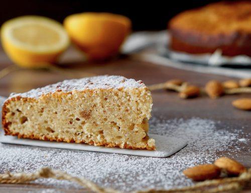 Torta 5 Minuti al Limone, Mandorle e Ricotta