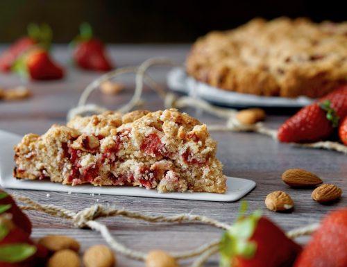 Torta Cookie alle Fragole e Mandorle