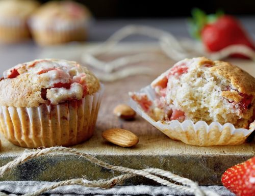 Muffin alle Fragole e Mandorle