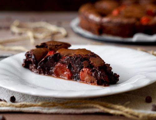 Torta Delizia al Cioccolato e Fragole