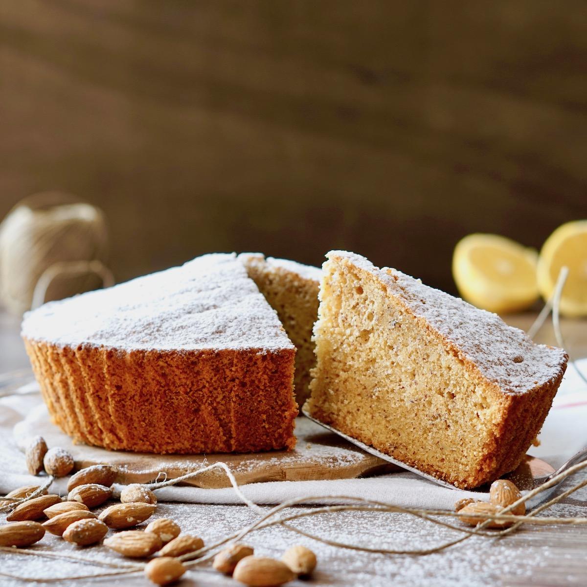 Torta di Mandorle, Limone e Zenzero
