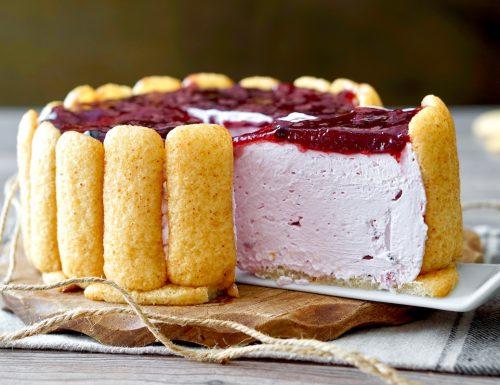 Torta Fredda ai Pavesini, Yogurt e Frutti di Bosco