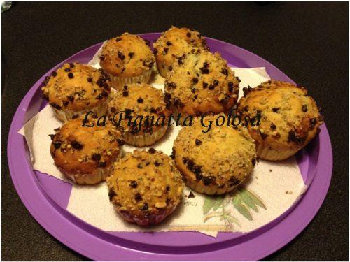 Muffins alle nocciole e gocce di cioccolato
