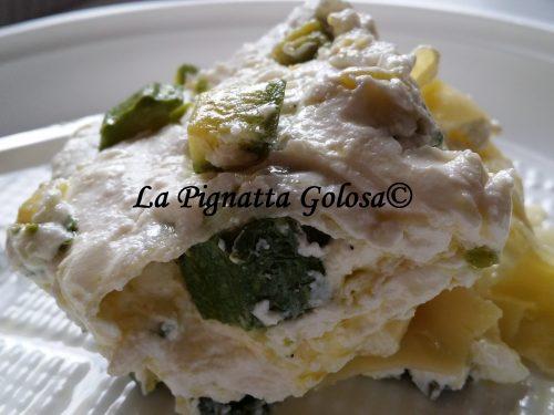 Lasagna Fredda con Zucchine, Ricotta e Menta
