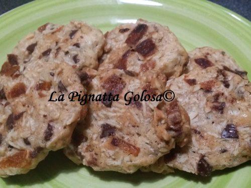 Cookies all'Avena, Cioccolato e Albicocche