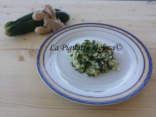 Risotto alle Zucchine, Zenzero e Limone Light