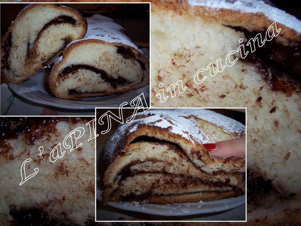 Treccia alla nutella - pan brioche con la nutella - L'aPINA in cucina