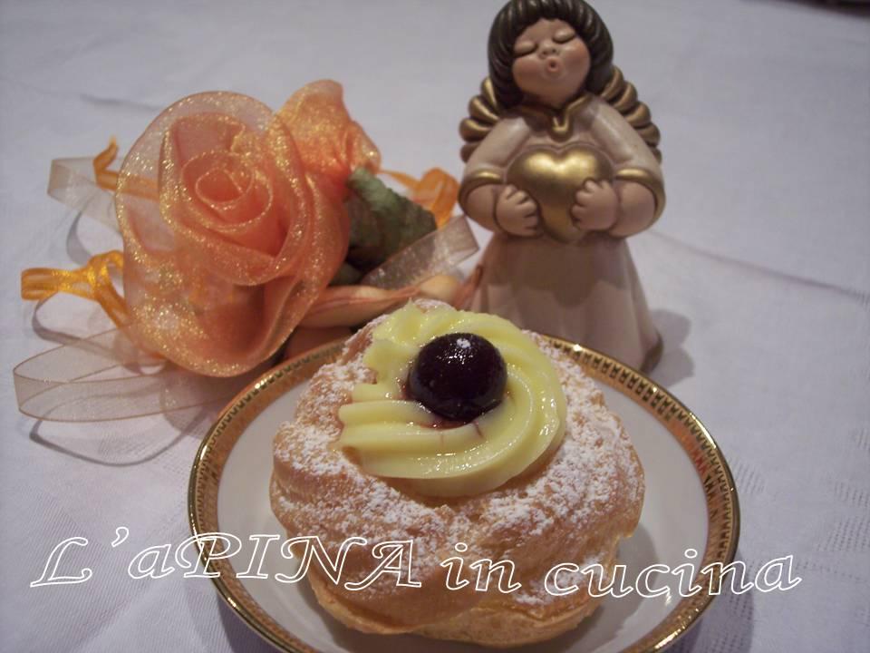 Zeppole di San Giuseppe....ricetta passo passo...decorare con crema pasticciera