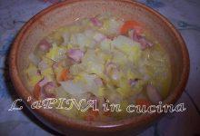 Zuppa di verza con la pancetta