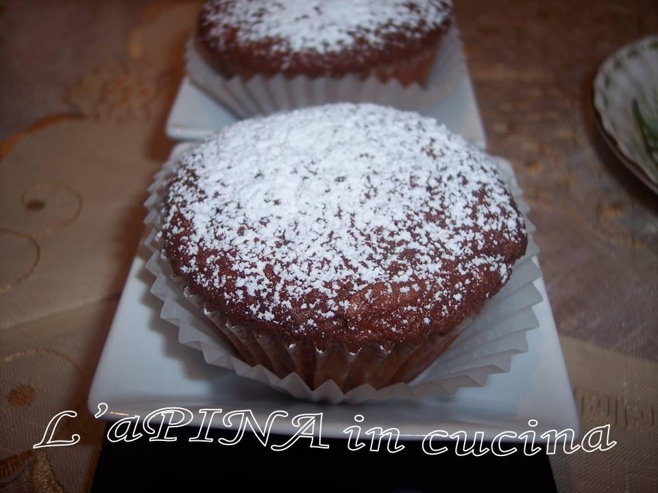 Muffin con cioccolato e rape rosse