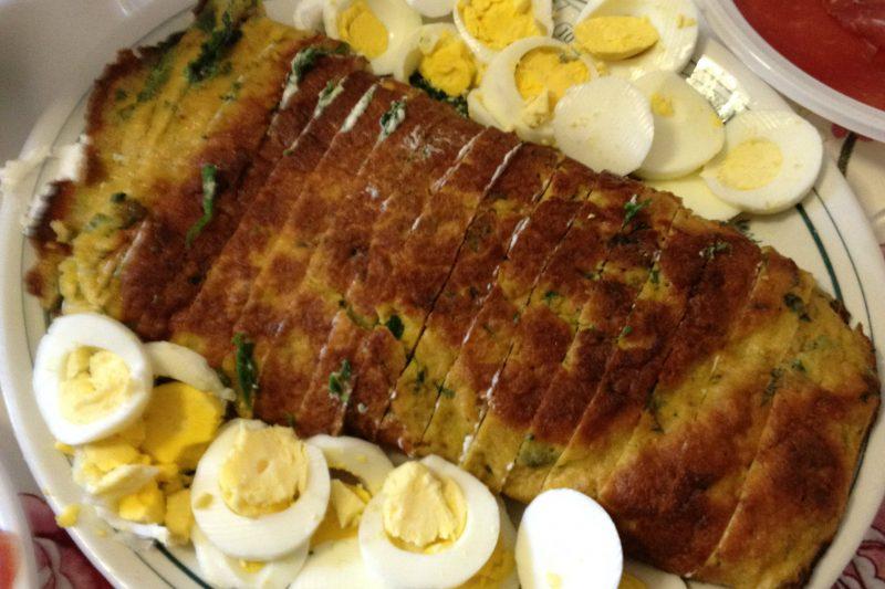 Frittata arrotolata con spinaci e ricotta