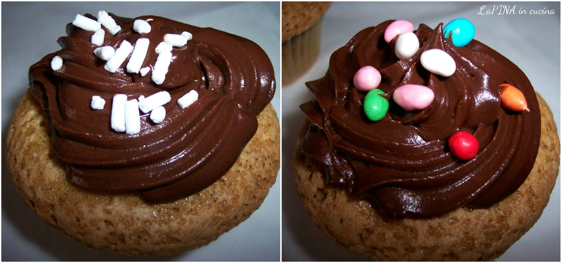 Cupcake al caffè e cioccolato collage_